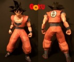 Papercraft imprimible y armable de Goku. Manualidades a Raudales.