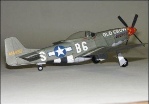 "Maqueta 3D del avión Mustang P51D ""Old Crow"". Manualidades a Raudales."